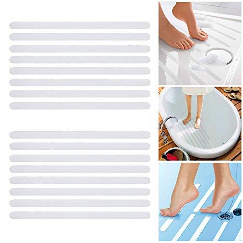 Incutex 16x Anti Rutsch Streifen für Badewanne und Dusche 38 cm lang – 2 cm breit, selbstklebend, transparent Test