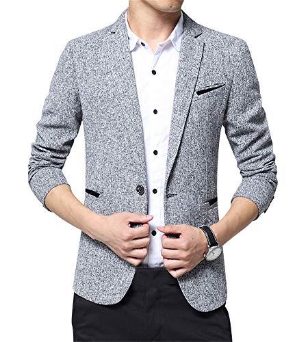 Zixing slim fit uomo casual elegante vestito di affari cappotto giacca blazers x-large xl