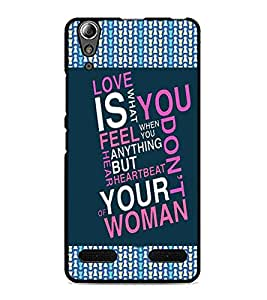 PrintDhaba Quote D-4125 Back Case Cover for LENOVO A6000 PLUS (Multi-Coloured)