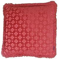 corallo rosso in ciniglia Bullion Fringe spessore Chainlink cuscino 45,7cm-45cm