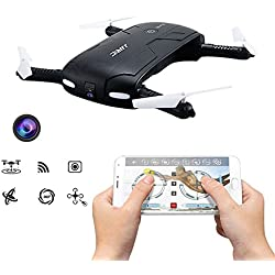 JJRC H 37 Elfie mini Drohne mit Kamera WIFI FPV Höhehalte freies APP Selfie 3D Flip Headless Modus Taschendrohne mit Kamera für Anfänger Geschenkidee