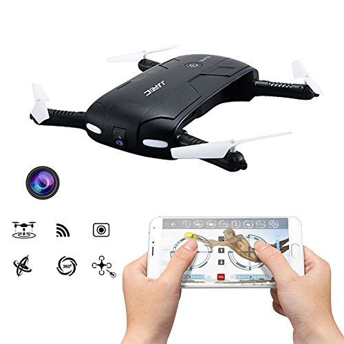 Kingtoys-Selfie-RC-Drone-JJRC-H37-Elfie-24G-4CH-Mini-Drone-Wifi-FPV-Alta-Hold-Mode-Cmara-Selfie-03MP-Telfono-Control-RC-Quadcopter-RTF-Helicptero-Negro