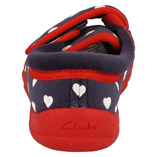 Clarks Kuba Elle Infant Mädchen Hausschuhe Marineblau-Mix