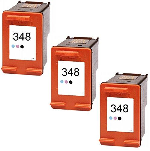 Photosmart C4280 Inkjet-drucker (Printing Pleasure 3 Tintenpatronen kompatibel zu HP 348 für PSC 1610 Photosmart C3100 C3180 C4180 C4280 C4380 C4480 C4580 C4599 C5280 D5160 D5360 2575 2610 7850 8050 8150 8750- Foto, hohe Kapazität)