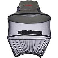 TININNA maglia della Anti mosquito Insetto Rete Cappuccio pesca Cappello  Apicoltore Maschera Proteggere Cappello Grigio a90a436a3196