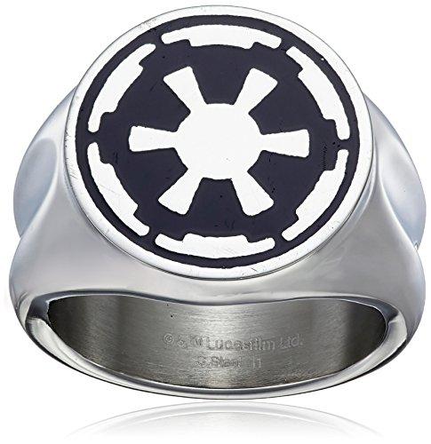 Star Wars Imperial Simbolo anello in acciaio inox, Acciaio inossidabile, 12, cod. SWISFR01-12