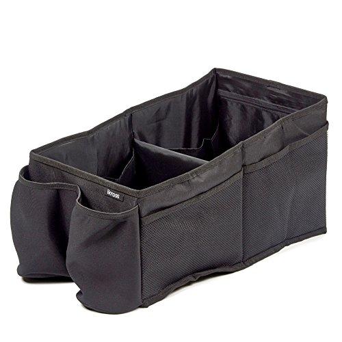 Autositztasche, iKross Auto-Rücksitz-Falttasche Faltbox Automotive-Organizer Aufbewahrungskist mit Becherhalter