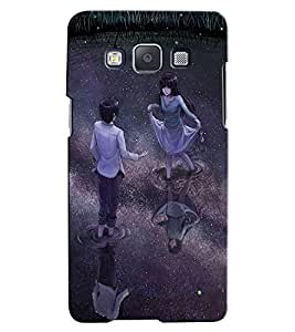 Citydreamz Boy and Girl/Dancing In Rain/Couple/Love/Animation/Valentine Hard Polycarbonate Designer Back Case Cover For Samsung Galaxy E7