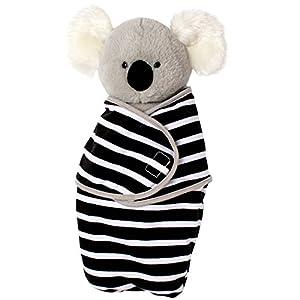 Manhattan Toy Swaddle Baby - Peluche de 11 Pulgadas con Manta de Remo