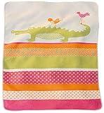 David Fussenegger Babydecke Juwel Krokodil und Vögel koralle pink orange, 70 x 90 cm Personalisiert mit Namen/Personalisiert