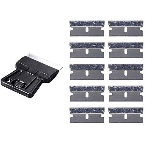 Ehdis® Sicherheit Farbschaber Mini Razor Schaber mit 10 Extra 1,5-Zoll-One-Edged