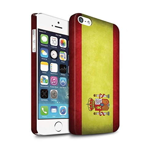 STUFF4 Matte Snap-On Hülle / Case für Apple iPhone X/10 / Australien/australisch Muster / Flagge Kollektion Spanien/Spanische