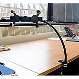 DURAGADGET Soporte Universal Para Escritorio Con Brazo Flexible Para Woxter SX100 - Rotación 360° - Cuello Cisne