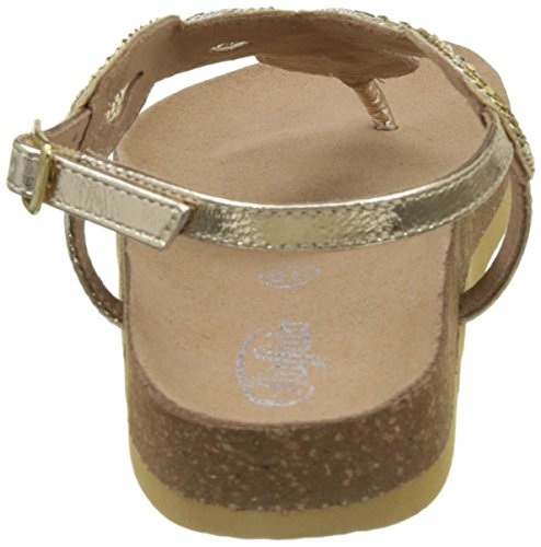 Buffalo B7051 Goat Foil, Sandales Bout Ouvert Femme Or (Gold 01)