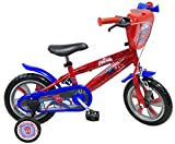 EDEN BIKES Vélo 12' Garçon Spiderman Équipé de 1 Frein Avant Caliper - Pneus EVA Increvables + 2 Stabilisateurs avec Montage sans Outils