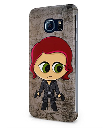 Chibi Black Widow The Avengers Plastic Snap-On Case Cover Shell For Samsung Galaxy S6 EDGE