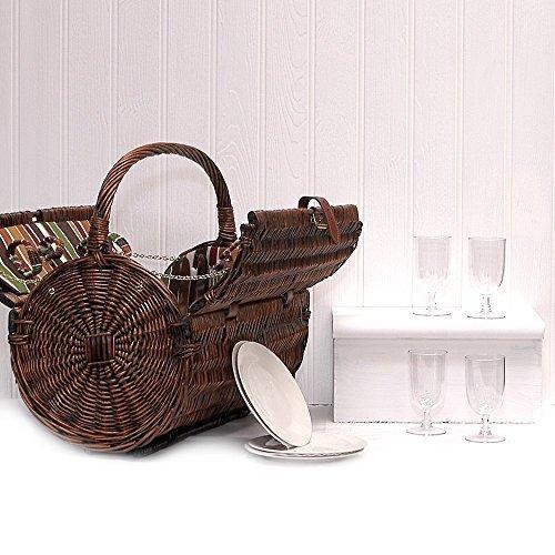 Cantley–Cesta de mimbre para picnic con...