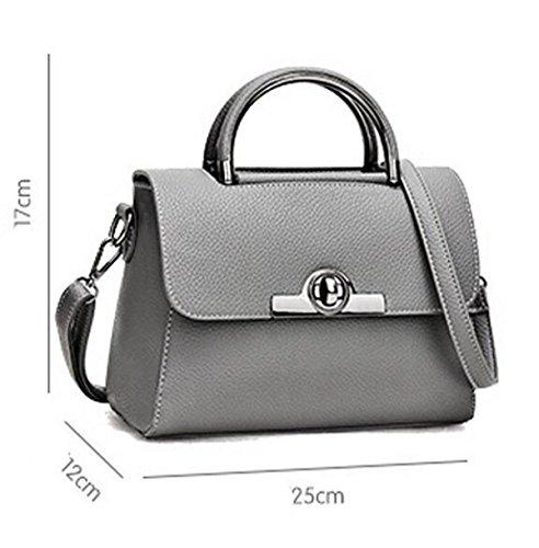 Hand-Transfer-Verschluss Frauen Stereotypen Süße Dame Messenger Bag Schultertasche Handtasche Black