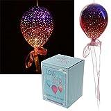 Puckator Metallic Pink & Purple Medium Glass Hanging LED Light Balloon BALL20