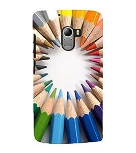 EPICCASE color pencils Mobile Back Case Cover For Lenovo Vibe K4 Note (Designer Case)