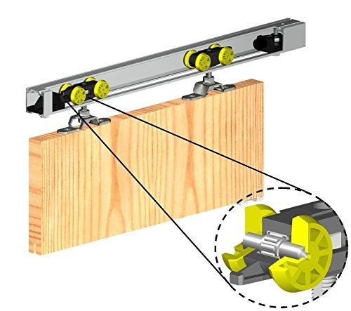 Sistema de engranaje deslizante para puerta 1500 mm HERKULES parte superior colgada, kit de puerta individual interna, 60 kg