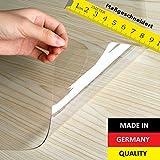 Tischfolie PVC transparent hochglanz Maßanfertigung Exakter Schnitt Tischdecke Schutzfolie Folie 2,5 mm ( 60 x 80 cm )