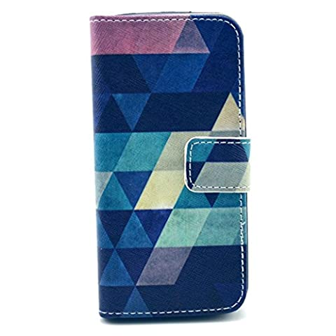 iPhone SE 5S 5 Leather Case [Free Tempered Glass Screen Protector], NEXCURIO Color Painting Leather Wallet Case Book Style Flip Cover with Folding Stand for iPhone SE 5S 5 (Pattern