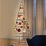 Multistore 2002 Weihnachtsdekoration Aufsteller Weihnachtsbaum Dekobaum, 5 Ebenen, Metall, Ø53xH127cm, Tannenbaum Christbaum Tanne