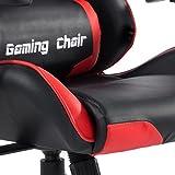Bürostuhl GAMING Racer Chefsessel Schreibtischstuhl Drehstuhl, höhenverstellbar, verstellbare Armlehnen, Wippmechanik in schwarz/rot - 9