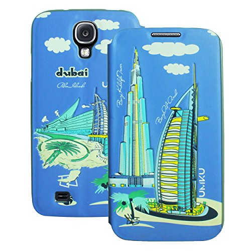 Heartly Country Series Printed PU Leather Flip Bumper Case Cover For Samsung Galaxy S4 i9500 - Dubai Blue  available at amazon for Rs.199