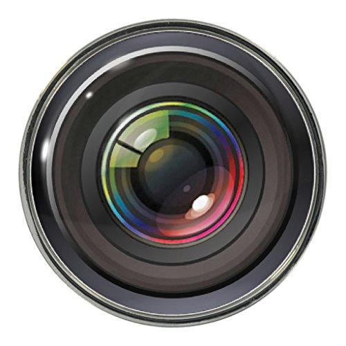 Preisvergleich Produktbild 1StopShops Metall-Anstecker, Motiv Kameraobjektiv