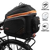 Ibera 2-in-1 Fahrradtasche für Gepäckträger, Fahhradtasche für Pendler mit erweiterbaren Packtaschen, Kann Schnell angebracht und entfernt Werden und verfügt über Einen Abnehmbaren Schultergurt