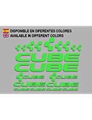 PEGATINAS CUBE F177 VINILO ADESIVI DECAL AUFKLEBER КЛЕЙ MTB STICKERS BIKE (VERDE)