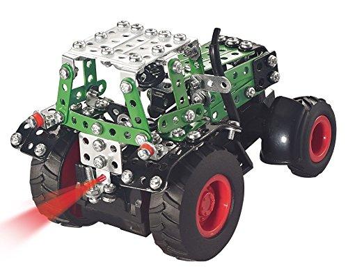 RC Auto kaufen Traktor Bild 4: Tronico 09521 - Metallbaukasten Traktor Fendt 800 Vario mit Kippanhänger und Fernsteuerung, Maßstab 1:64, Micro Serie, grün, 451 Teile*