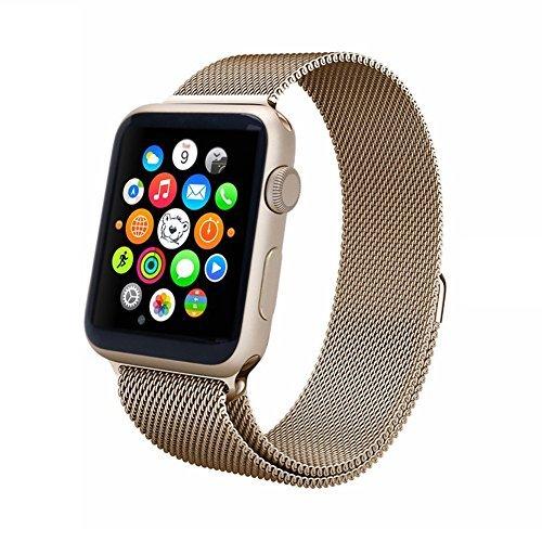 Preisvergleich Produktbild Aviato Magnetic Milanaise Armband für Apple Watch 42 mm - Champagner Gold