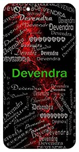 Devendra (King Of Gods) Name & Sign Printed All over customize & Personalized!! Protective back cover for your Smart Phone : Samsung Galaxy Note-4