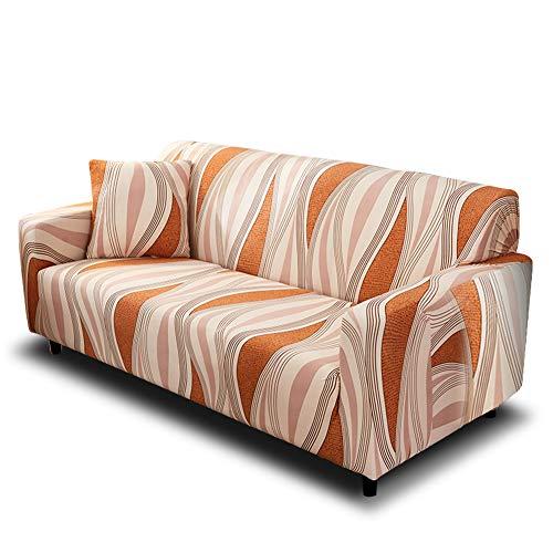 HOTNIU Funda Elástica de Sofá Funda Estampada para sofá Antideslizante Protector Cubierta de Muebles (Cuatro Plazas, Modelo_sx)