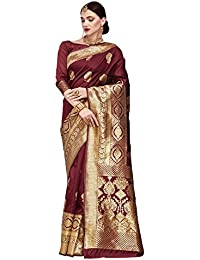 Saree Mall Women's Silk Saree With Blouse Piece (Kumd35001_Red)