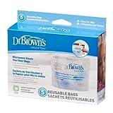Dr Brown Flusso Naturale Microonde Vapore Sterilizzatore Sacchetti x 5