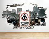 tekkdesigns R914Zombies monstruos ciudad Cool Smashed adhesivo pared 3d arte pegatinas vinilo habitación