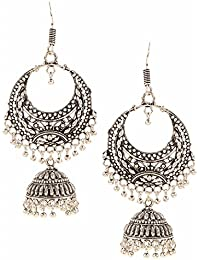 Efulgenz Oxidised Stylish Fancy Party Wear Dangler Earrings For Girls And Women