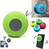 EVALUEMART Mini Portable Waterproof Bluetooth Wireless Stereo Shower Speakers With Suction Cup For All Devices With Bluetooth Capability + Siri Compatible / With Built-in Mic Powerful Handsfree Speakerphone (Color May Vary)