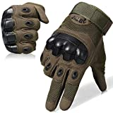 WTACTFUL Touch Screen Rubber Hard Knuckle Full Finger Gloves for Motorcycle Cycling Motorbike ATV Riding Driving Racing Climbing Camping Hiking Hunting Work Outdoor Sports Gloves Size X-Large Green