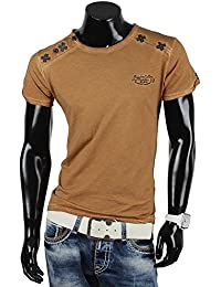 Tazzio top t-shirt à manches courtes pour homme coupe ajustée polo clubwear nouvelle étiquette