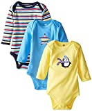 Best Luvable Friends Friend For Boys - Luvable Friends 3 Pack Long Sleeve Baby Bodysuits Review