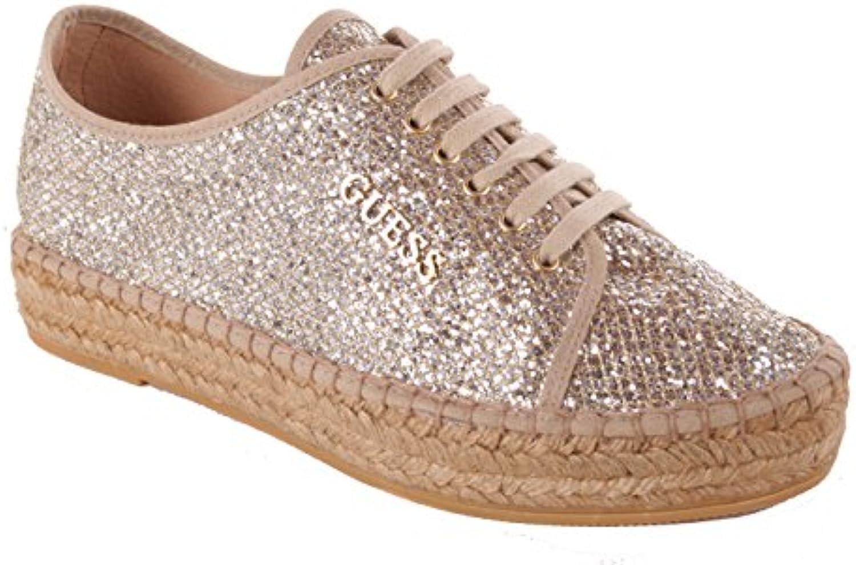 Guess Damen Sneaker Schnürschuhe Gold 2018 Letztes Modell  Mode Schuhe Billig Online-Verkauf