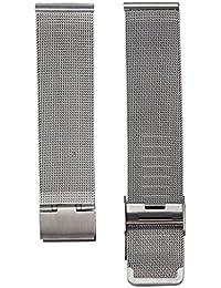 Malloom® Moda milanesa acero inoxidable 20 mm Venda Reloj Pulsera Correa Repuesto (plata)