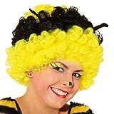 PARTY DISCOUNT Perücke Biene, schwarz/gelb mit Fühler