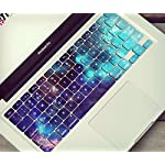 "typeDESIGNS Keyboard Sticker Skin Design ""GALAXY CELESTIAL"" QWERTZ PC / MAC TASTATUR AUFKLEBER SET auf deutsch, bunt, Muster, Farben, farbig- Laptop, Notebook - decal vinyl"