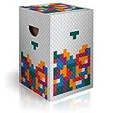 murando Papphocker Motiv Tetris 45x30x30 cm faltbar Papier Hocker ergonomischer Karton Photohocker Falthocker i-C-0133-ap-a